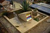 tumba de Le Corbusier y su esposa Yvonne, cementerio de Roquebrunne (1957)