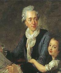 Retrato de Claude Nicolas Ledoux, con su hija, Adélaïde Constance, hacia 1782 - Musée Carnavalet
