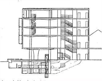 Sección transversal por taller de doble altura.