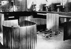 """Café """"Terciopelo y Seda"""", Berlín (1927) junto con Lilly Reich"""