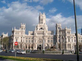 El Palacio de Comunicaciones de Madrid.