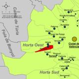 Localització de Alacuás respecto de la Huerta Oeste