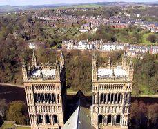 Vista oeste desde la torre principal