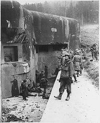 Línea Maginot tomada por soldados estadounidenses en 1944