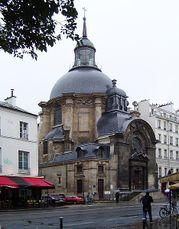 Templo de Marais (antigua capilla del convento de la Visitación de Santa María), París (1632-1634)