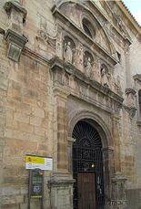 Acceso de la fachada principal del convento de Santo Domingo, Jaén (1582)