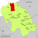 Localización de respecto a la comarca del Alto Palancia