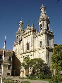 Fachada barroca del monasterio