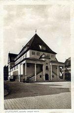 Gustav-Siegle-Haus (actualmente la Filarmónica) en Stuttgart, 1905 (construida entre 1910 y 1912)