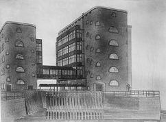 Proyecto para el Molino Werder, Breslavia (1908)
