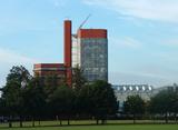 Escuela de Ingeniería de Leicester (1959-1963), junto con James Gowan.