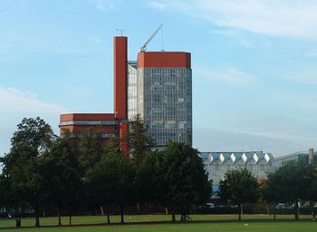 Vista de la Escuela de Ingeniería de Leicester.