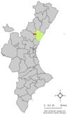 Localización de Alcudia de Veo respecto al País Valenciano