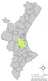 Localización de Sumacárcel en la Comunidad Valenciana