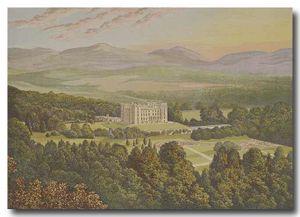 El Castillo de Drumlanrig en 1880.