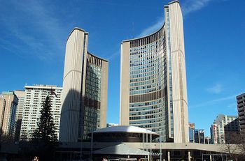 Vista del Toronto City Hall.
