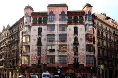 Esgrafiados de fachada de la casa Llopis Bofill, Barcelona (1902)