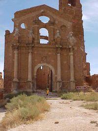 iglesia de San Martín de Tours en Belchite viejo