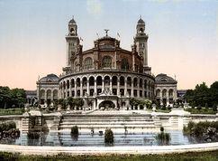 El antiguo Palacio del Trocadero, durante la Exposición Universal de París (1900 )