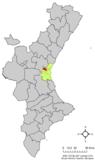 Localización de Paterna Aguas respecto a la Comunidad Valenciana