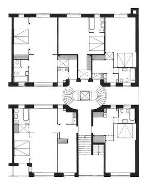 Scharoun.ApartamentosHohenzollerndamm.Planos1.jpg