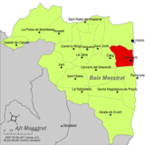 Localización de Benicarló respecto al Bajo Maestrazgo