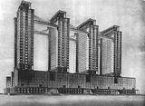 Proyecto para Ministerio de la Industria Pesada, Moscú (1934)