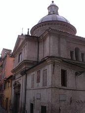Fachada de la iglesia de Eligio degli Orefici (1602-1613)