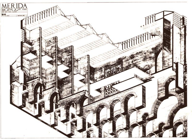 Archivo:Moneo.MuseoArteRomano.Planos5.jpg