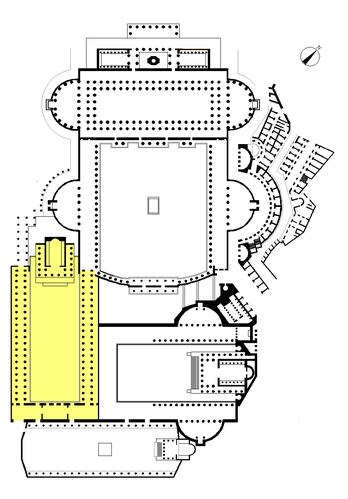 Ubicación del Foro de César en los foros imperiales.