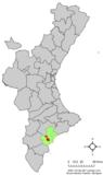 Localización de San Vicente del Raspeig respecto a la Comunidad Valenciana