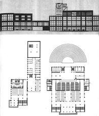 Proyecto para el Palacio del Trabajo en Ekaterinoslav (1926) junto con Boris Korshunov
