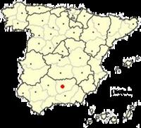 Situación de Jaén en España