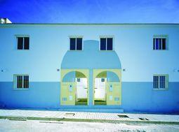 fachada de dos viviendas tipo