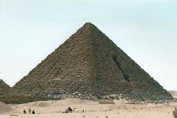 Pirámide de Menkaura. Giza.