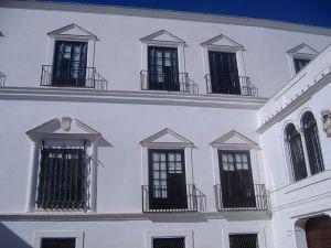 Palacio de los duques de Medina-Sidonia de Sanlúcar de Barrameda.Fachada principal.