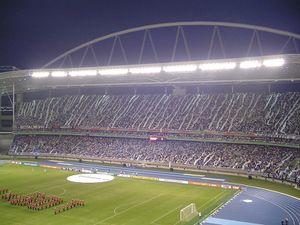 Fiesta de la hinchada de Botafogo en la inauguracíon.