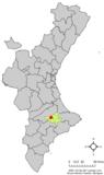 Localización de Muro respecto a la Comunidad Valenciana