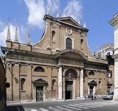 Fachada de la Iglesia de Santa María dell'Orto, Roma (1576-1578)