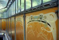 Hector Guimard - Los paneles de lava del edículo Dauphine - 1900