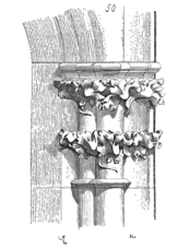 Croquis del capitel del triforo