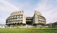Centro de Restauraciones Artísticas en la Ciudad Universitaria, actualmente Sede del Instituto del Patrimonio Cultural de España, Madrid (1965-1970), junto con Fernando Higueras.