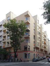 Viviendas de renta protegida en calle de Quintana esquina a Juan Álvarez Mendizábal, Madrid (1935-1936)