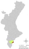 Localización de Santa Pola respecto a la Comunidad Valenciana