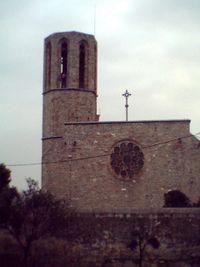 Fachada lateral de la iglesia del monasterio de Pedralbes