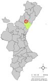 Localización de Ribesalbes respecto al País Valenciano