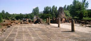 Plaza de la ciudad romana de Ammaia.