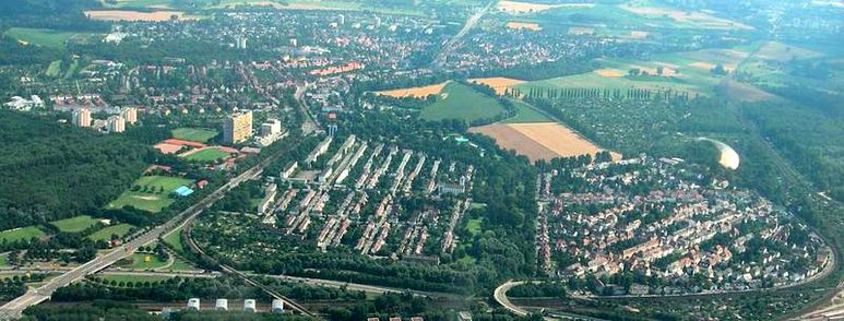 Karlsruhe Luftbild Rueppurr Dammerstock Weiherfeld.jpg