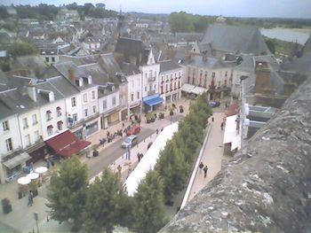 Vista del Pueblo medieval de Amboise desde el Castillo de Amboise