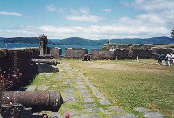Vista del Castillo de San Sebastían de la Cruz en Corral.